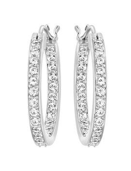 Swarovski Summerset Rhodium Plated Crystal Hoop Earrings by Beaverbrooks