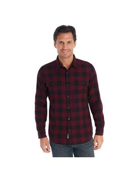 Long Sleeve Buffalo Check Plaid Flannel by G.H.Bass & Co.