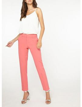 **Tall Pink Plain Ankle Grazer Trousers by Dorothy Perkins