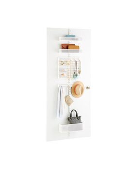White Elfa Utility Mesh Closet Door &Amp; Wall Rack Solution by Container Store