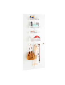 White Elfa Utility Mesh Drop Zone Door &Amp; Wall Rack Solution by Container Store