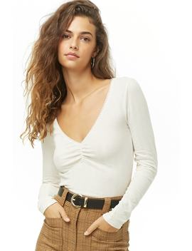 ruched-ribbed-top by forever-21