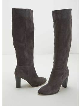 Faith Charcoal Suede Long Boot by Mint Velvet