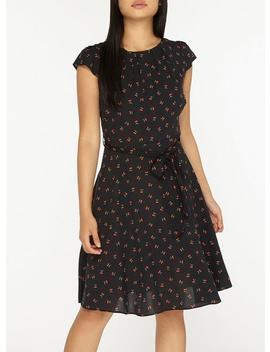 **Billie &Amp; Blossom Petite Black Cherry Printed Dress by Dorothy Perkins