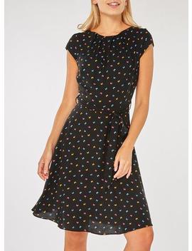 **Billie &Amp; Blossom Black Butterfly Print Skater Dress by Dorothy Perkins