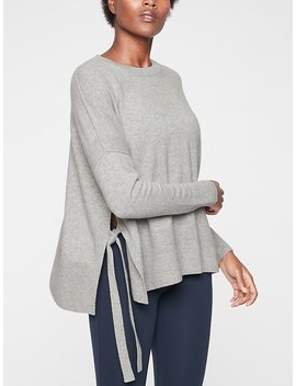 Cashmere Chamonix Side Tie Sweater by Athleta