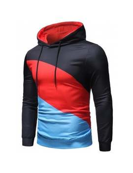 "<P>Color Block Long Sleeves Hoodie</P><I Class=""Icon Down Js Tap Up Down""></I> by Dress Lily"