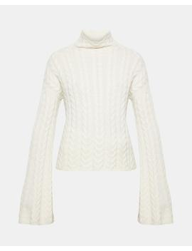 Horseshoe Cable Turtleneck by Theory