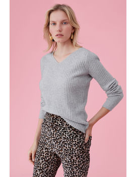 Cashmere V Neck Pullover by Rebecca Taylor