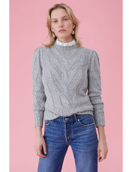 La Vie Cozy Cable Pullover by Rebecca Taylor
