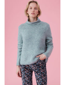 La Vie Lofty Links Turtleneck Pullover by Rebecca Taylor