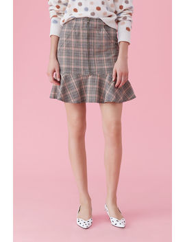 La Vie Plaid Ruffle Skirt by Rebecca Taylor