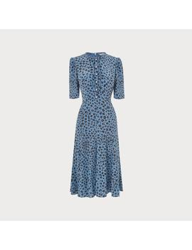 Montana Blue Leopard Print Silk Dress by L.K.Bennett