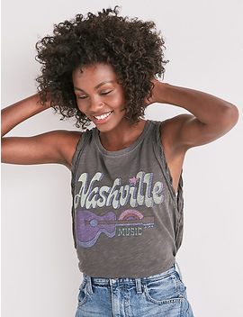 Nashville Side Laceup Tee by Lucky Brand