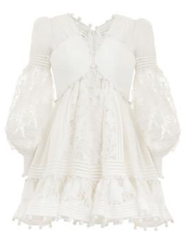 Corsage Embellished Mini Dress by Zimmermann