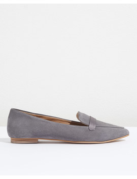 Aya Suede Satin Pointed Flat by Jigsaw