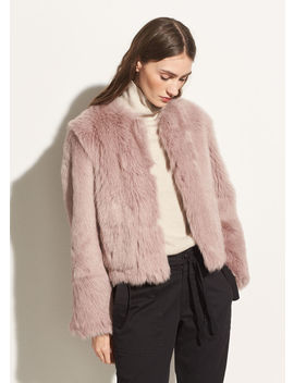 Cropped Shearling Jacket by Vince