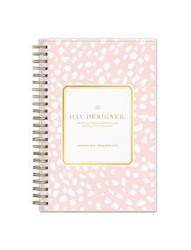 "2019 Day Designer Planner Blush Spotty Pp 5""H X 8""W Ry Daily/Mthly Wirebound (109236) by Blue Sky"