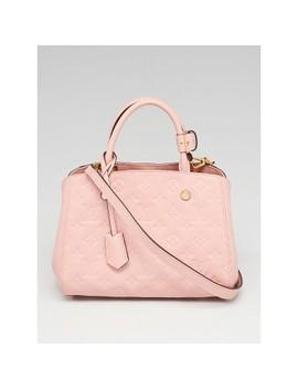 Rose Poudre Monogram Empreinte Leather Montaigne Bb Bag by Louis Vuitton