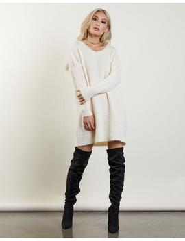 Free Fall Sweater Dress by 2020 Ave
