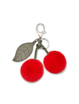 Fur Cherry Key Fob by Rebecca Minkoff