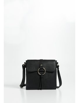 Faux Leather O Ring Crossbody Bag by Maurices