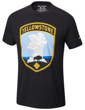 Men's Yellow Cotton Tee Shirt by Columbia Sportswear