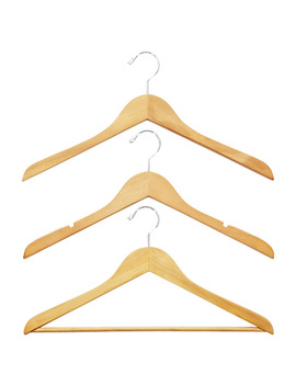 Petite Basic Natural Wooden Hangers by Container Store