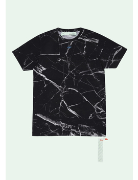 Black Marble T Shirt by Off White