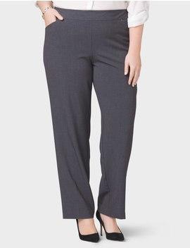 Plus Size Secret Agent Rivet Rivet Pull On Trouser Pants by Dressbarn
