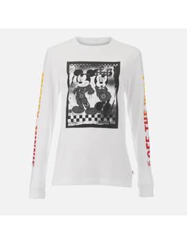 Vans Women's Punk Mickey Long Sleeve T Shirt   White by The Hut