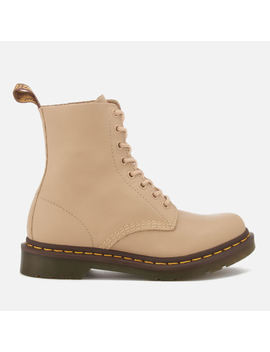 Dr. Martens Women's Pascal 8 Eye Virginia Leather Boots   Nude by The Hut