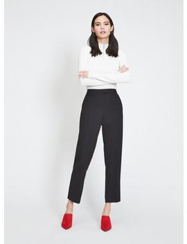 Black Split Cigarette Trousers by Miss Selfridge