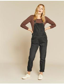Overdye Black Dungarees by Fat Face
