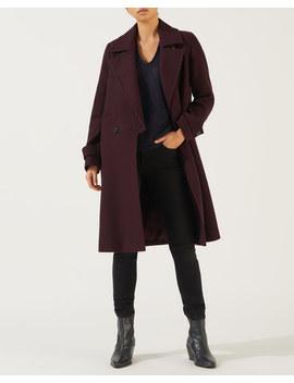 Wool Melange Fixed Lapel Coat by Jigsaw