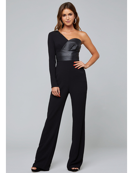 One Shoulder Jumpsuit by Bebe