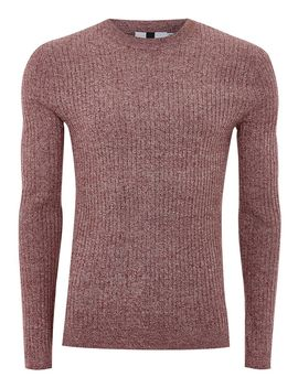 Burgundy And White Twist Muscle Jumper by Topman
