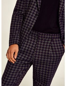 Purple Houndstooth Trousers by Topman