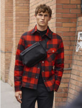 Checked Jacket Lined With Faux Sheepskin by Sandro Eshop