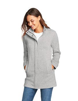Women's Tall Sweater Fleece Coat by Lands' End