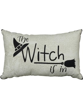 The Witch Is In Decorative Pillow The Witch Is In Decorative Pillow by Kmart