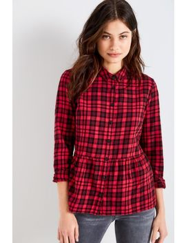 Highcliffe Check Peplum Shirt by Jack Wills