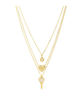 Lenox Pave Key Triple Necklace by Henri Bendel