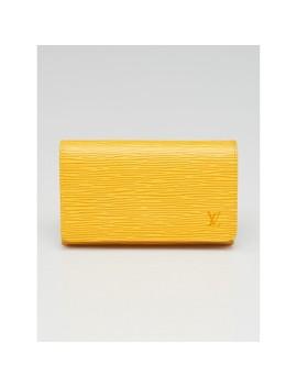 Tassil Yellow Epi Leather Porte Monnaie Wallet by Louis Vuitton