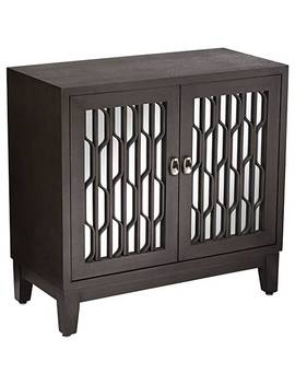 Carson Espresso Wooden Mirrored 2 Door Cabinet by Lamps Plus