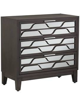 Carson Mirrored 3 Drawer Wood Accent Chest by Lamps Plus