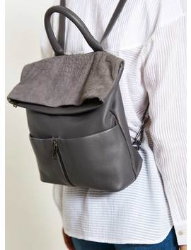 Alex Grey Leather Backpack by Mint Velvet