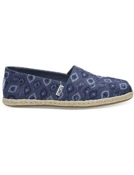 Blue Washed Denim Women's Espadrilles by Toms