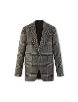 Brown Tweed Check Atticus Jacket by Tom Ford