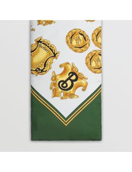 Archive Scarf Print Silk Puffer Scarf by Burberry